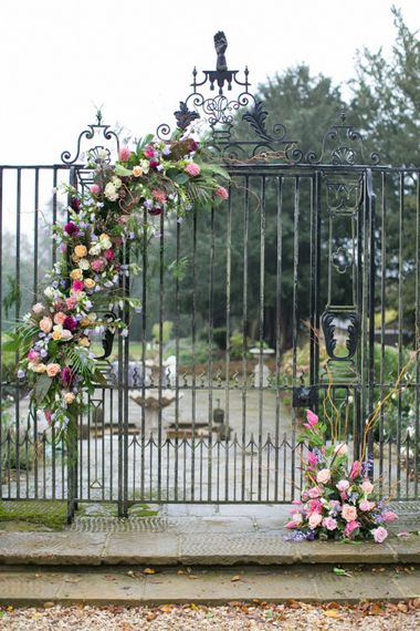 Wedding Flower Entrance Gate | Spring Equinox at Thorpe Manor Wedding Venue by Revival Rooms | Anneli Marinovich Photography
