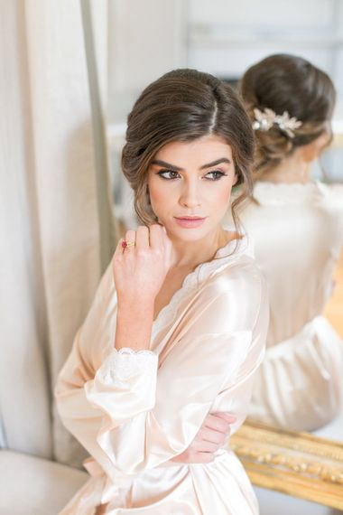 Wedding Morning Getting Ready Robes | Bridal Beauty | Chic Wedding Hair & Makeup by Alison Jenner | Spring Equinox at Thorpe Manor Wedding Venue by Revival Rooms | Anneli Marinovich Photography