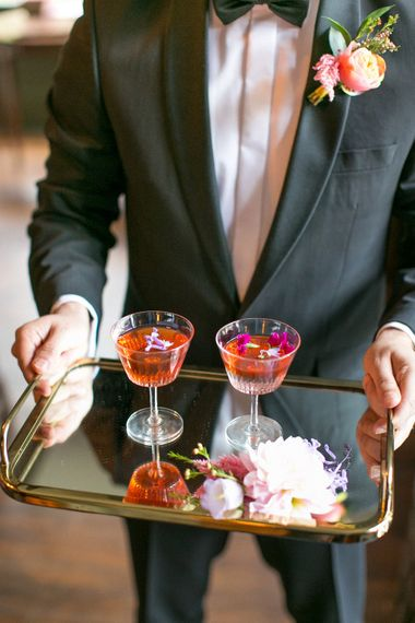 Cocktails in Cut Glass | Spring Equinox at Thorpe Manor Wedding Venue by Revival Rooms | Anneli Marinovich Photography