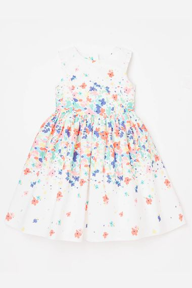 John Lewis Floral Print Flower Girl Dress