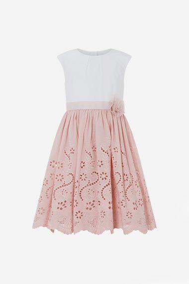Monsoon May Broderie flower girl Dress blush