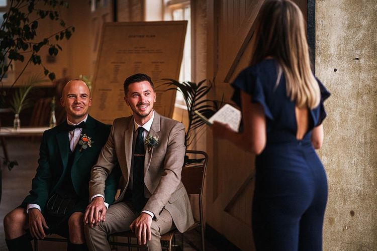 Second wedding ceremony for grooms at  Trinity Buoy Wharf