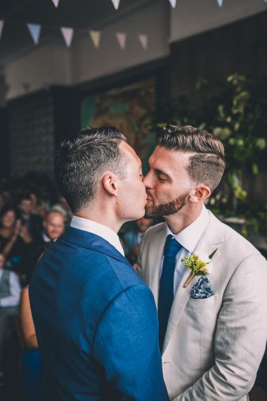 Grooms tie the knot at intimate same-sex wedding in London