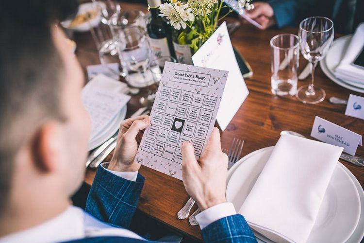 The Roost Dalston wedding reception with vintage decor and party games