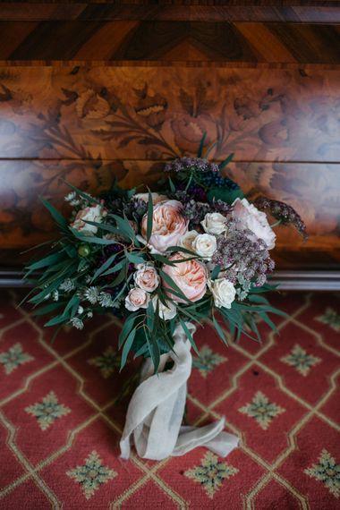 Wedding Bouquet | Elegant Blush Pink & White Destination Wedding at Hotel La Palma, Stresa Italy, Planned by Princess Wedding | Berni Photography