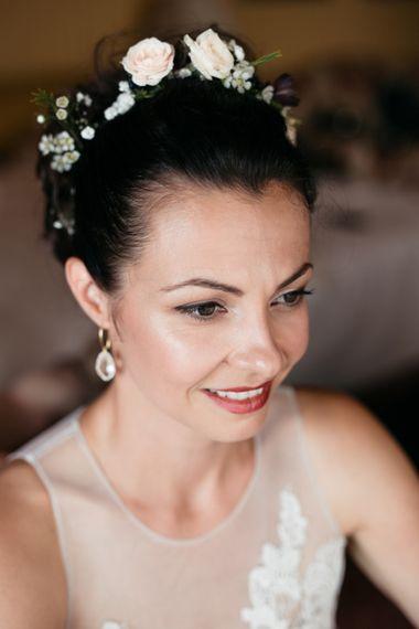 Wedding Morning | Bridal Makeup | Elegant Blush Pink & White Destination Wedding at Hotel La Palma, Stresa Italy, Planned by Princess Wedding | Berni Photography