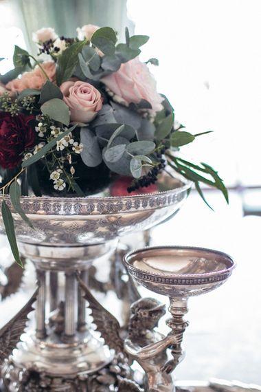 Floral Arrangement | Elegant Blush Pink & White Destination Wedding at Hotel La Palma, Stresa Italy, Planned by Princess Wedding | Berni Photography