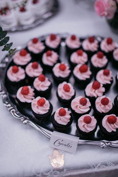 Cupcakes on Dessert Table | Elegant Blush Pink & White Destination Wedding at Hotel La Palma, Stresa Italy, Planned by Princess Wedding | Berni Photography