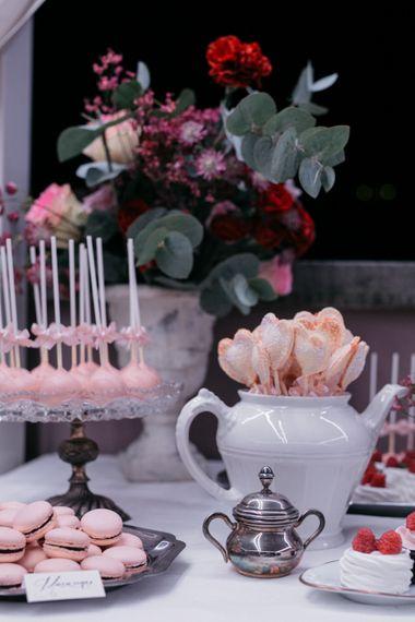 Dessert Table | Elegant Blush Pink & White Destination Wedding at Hotel La Palma, Stresa Italy, Planned by Princess Wedding | Berni Photography