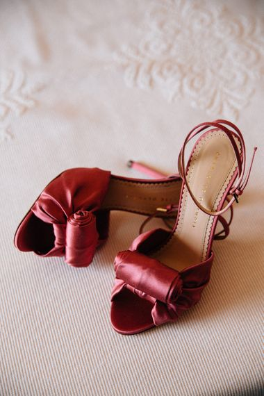 Charlotte Olympia Red Ratin Shoes | Colourful, Sophisticated,  Outdoor Wedding at Is Morus Relais in Southern Sardinia, Italy |  Greg Funnell Photography