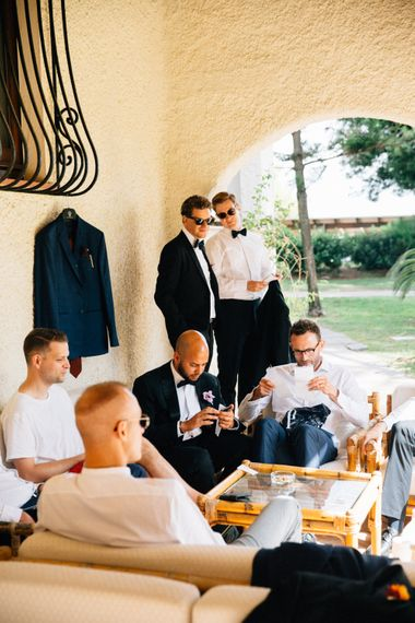 Groomsmen Wedding Morning Preparations | Colourful, Sophisticated,  Outdoor Wedding at Is Morus Relais in Southern Sardinia, Italy |  Greg Funnell Photography