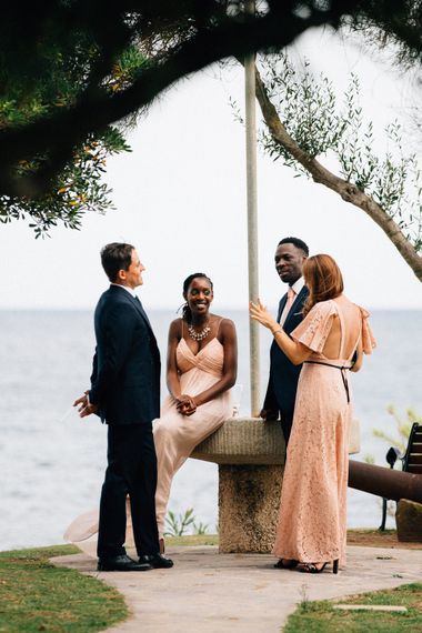 Wedding Guests | Colourful, Sophisticated,  Outdoor Wedding at Is Morus Relais in Southern Sardinia, Italy |  Greg Funnell Photography