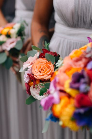 Colourful Bridal Party Bouquets | Colourful, Sophisticated,  Outdoor Wedding at Is Morus Relais in Southern Sardinia, Italy |  Greg Funnell Photography