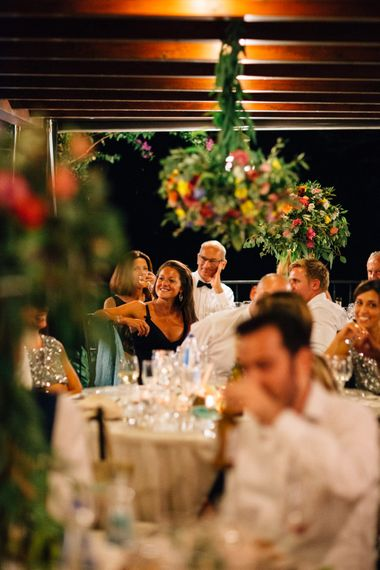 Wedding Reception | Colourful, Sophisticated,  Outdoor Wedding at Is Morus Relais in Southern Sardinia, Italy |  Greg Funnell Photography