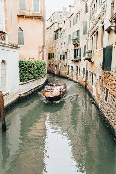 Gondola in Venice for Elopement