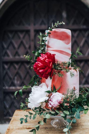 Romantic Wedding Cake with Floral Decor