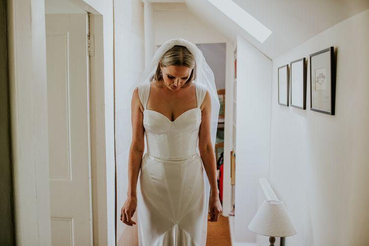 Vegan fitted wedding dress for stunning bride