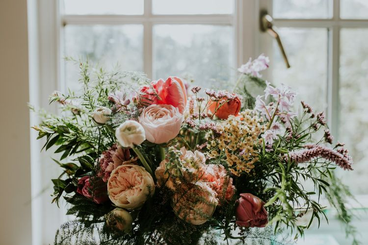 Wedding bouquet for bride in Scotland