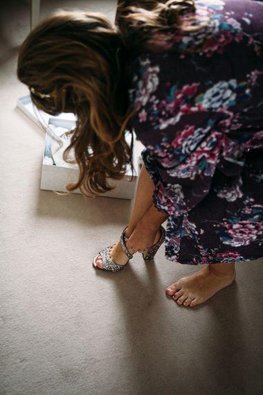 Jimmy Choo Wedding Shoes | Belle & Bunty Wedding Dress for an Islington Town Hall & Brixton East City Wedding | Joanna Bongard Photography