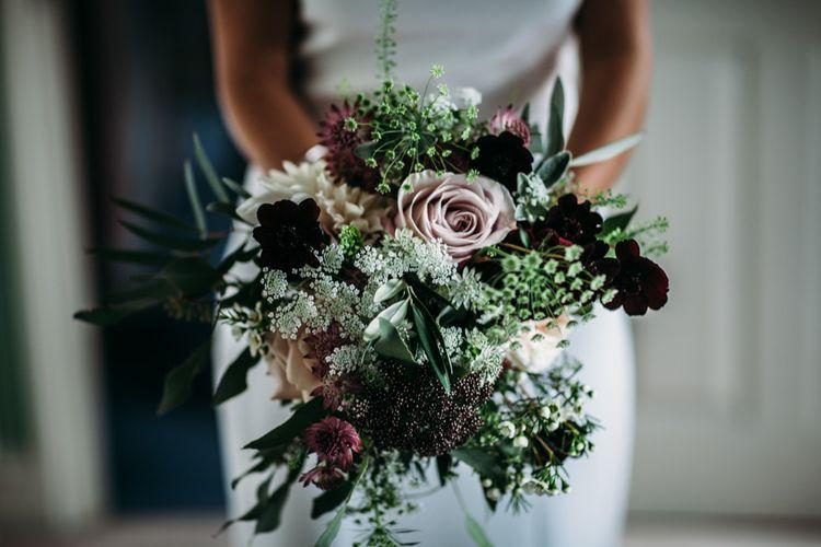Bridal Bouquet | Bride in Belle & Bunty Wedding Dress | Islington Town Hall & Brixton East City Wedding | Joanna Bongard Photography