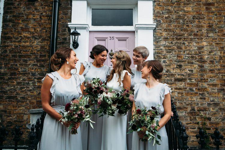 Bridal Party | Bridesmaids in Zara Jumpsuits | Bride in Belle & Bunty Wedding Dress | Islington Town Hall & Brixton East City Wedding | Joanna Bongard Photography