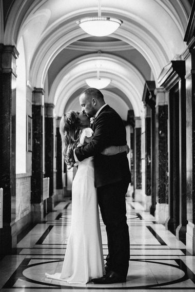 Bride in Belle & Bunty Wedding Dress | Groom in Paul Smith Suit | Islington Town Hall & Brixton East City Wedding | Joanna Bongard Photography