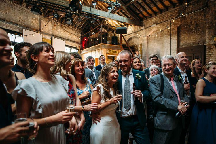 Wedding Reception Speeches | Belle & Bunty Wedding Dress for an Islington Town Hall & Brixton East City Wedding | Joanna Bongard Photography