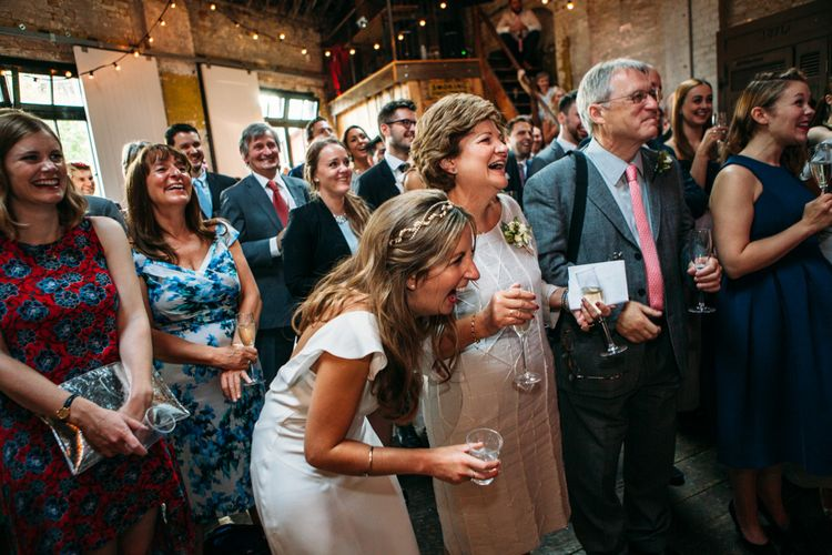 Wedding Reception Speeches | Bride in Belle & Bunty Wedding Dress | Islington Town Hall & Brixton East City Wedding | Joanna Bongard Photography