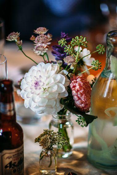 Dahlia Wedding Flowers | Belle & Bunty Wedding Dress for an Islington Town Hall & Brixton East City Wedding | Joanna Bongard Photography
