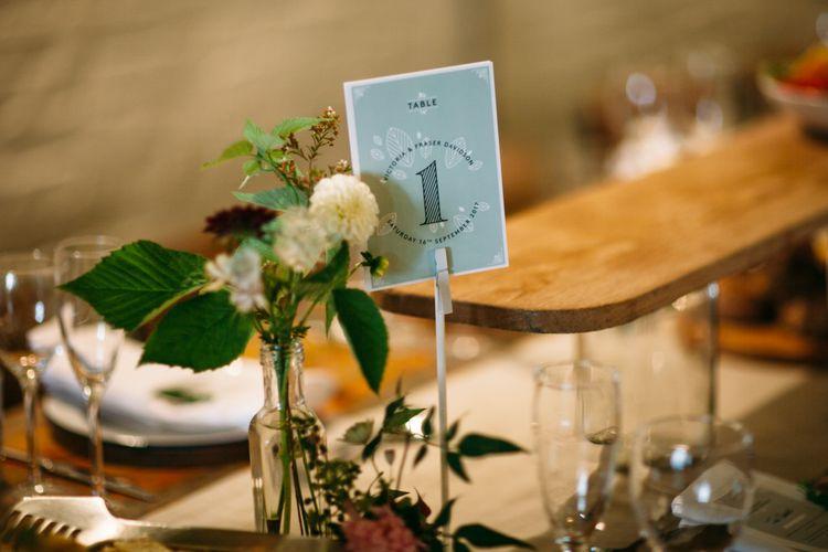 Table Number Wedding Stationery | Belle & Bunty Wedding Dress for an Islington Town Hall & Brixton East City Wedding | Joanna Bongard Photography