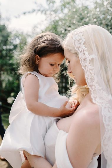 Mother and Daughter Moment a.k.a The Bride and Flower Girl
