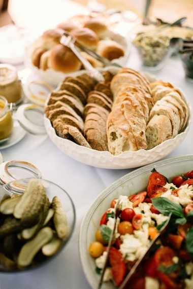 BBQ Wedding Breakfast with Fresh Breads and Salad Side Dishes
