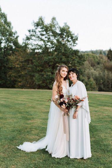 Mother of The Bride and Bride in Katya katya Wedding Dres
