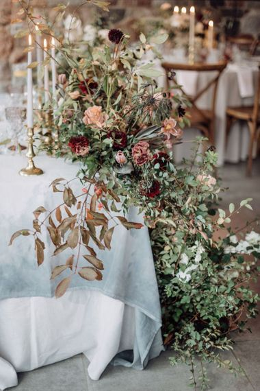 Muted Flowers and Foliage Arrangements