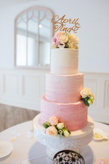 Three Tiered Pink Ombre Cake Hannah Hickham Creative Cake Makers