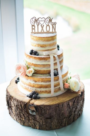 Naked Cake with Berries by Cottonwood Bakery