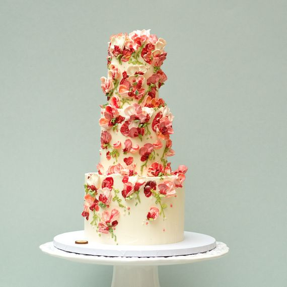 Sugar Flowers Tiered Cake by Emma Dodi