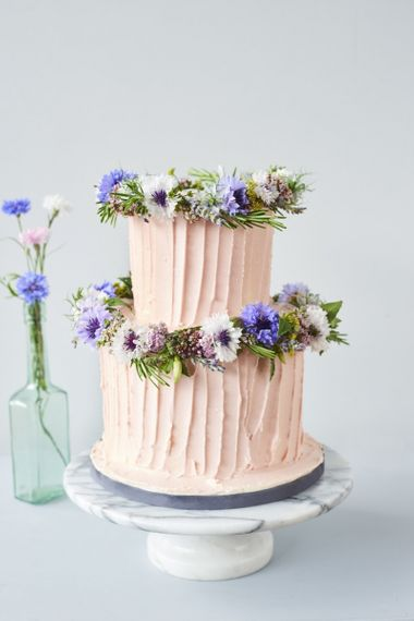 Pink Buttercream Icing Cake by Bee's Bakery