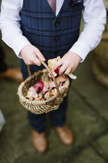 Wedding Confetti Basket By The Great British Florist Image by Captured By Katrina
