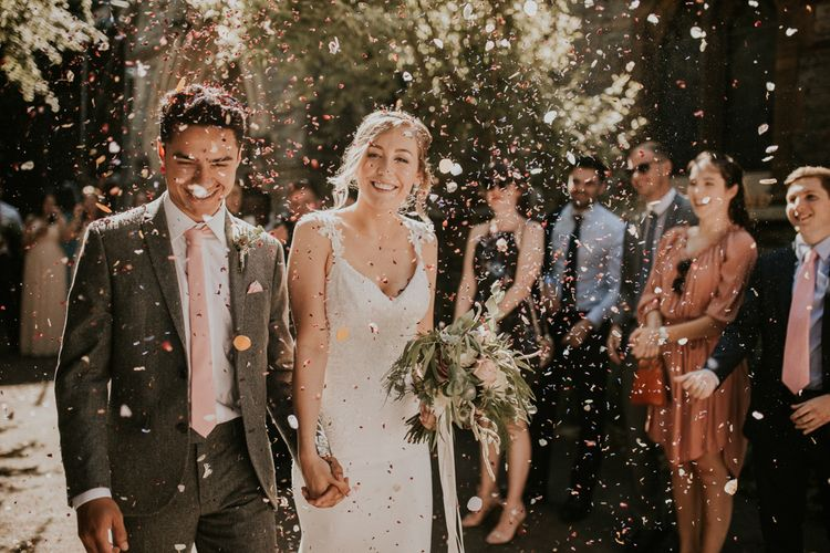 Eucalyptus Bouquet Confetti Throw Image by Nataly J Photography
