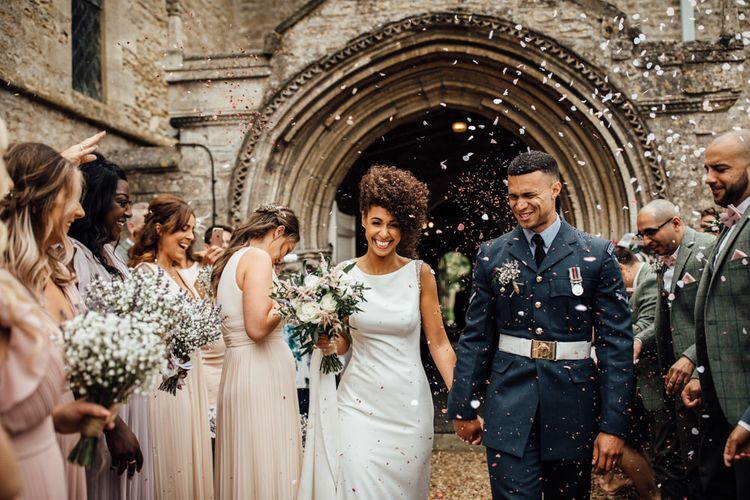 Military Wedding Confetti Exit by Ania Aimes Photography