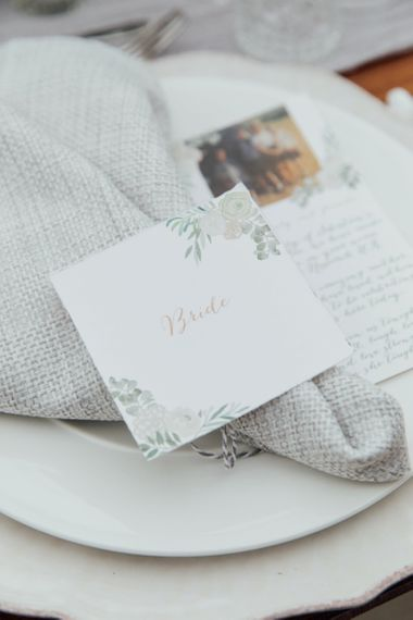 Personalised Wedding Stationery Place Name Card