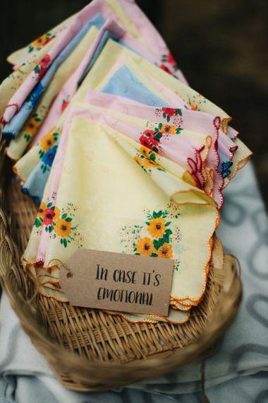 Handkerchief wedding favours