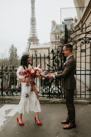 Modern Paris elopement at wedding for 15 people