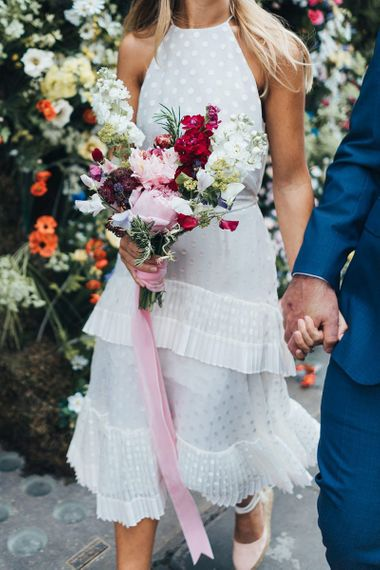 Bride and groom at intimate London Town Hall Wedding