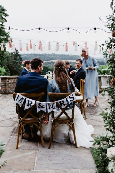 Intimate outdoor wedding reception at wedding for 15 people