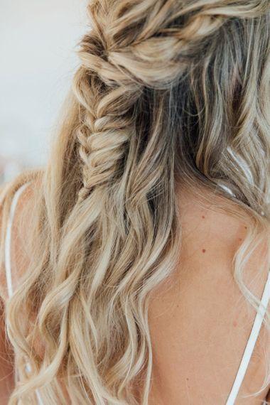 Half up half down fishtail hair