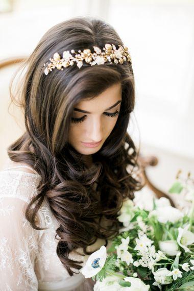 Long wavy wedding hair