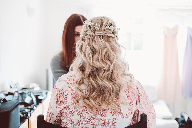 Loose curls wedding hair