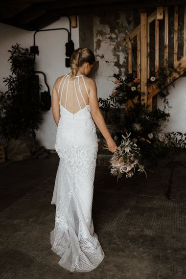 Wedding dress with beautiful back detail